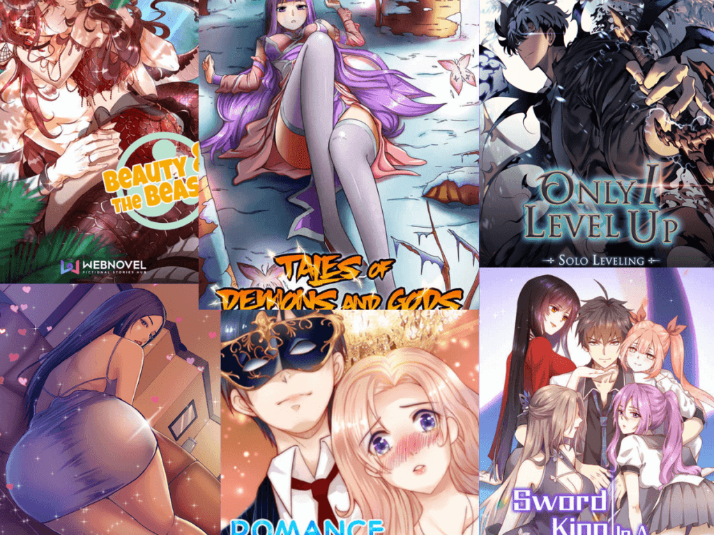 Web novel comics such as Beauty and the Beasts, Tales of Demons and Gods, Sword king in women's world and so on